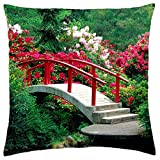 Rhododendrons in park - Throw Pillow Cover Case (18