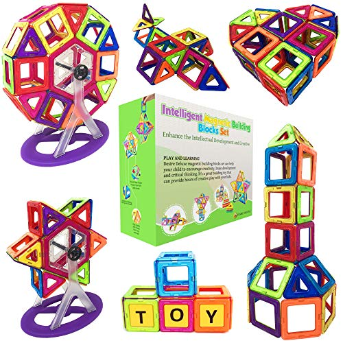 Magnetic Building Blocks Gift Desire Deluxe 94PC Kids Magnetics Construction Block Games for Boys and Girls Creativity Educational Children's Toys for Age 3 4 5 6 7 Year Old