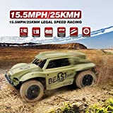 KidzFan™ Short Course Truck 4WD Rally Car | 1:18 Scale | 15.5MPH/25KMH Legal Speed Racing | Electric Race Desert Power Buggy