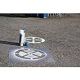 LEMAX® Signierschablonen Verkehrszeichen Parkplatz f. Behinderte, 400x600mm, Kunststoff