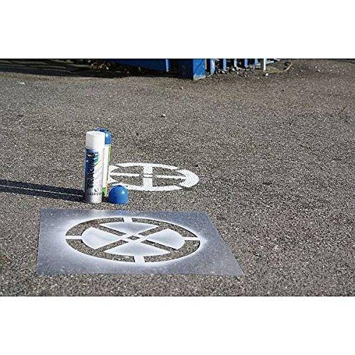 LEMAX® Signierschablonen Verkehrszeichen Parkplatz, 400x600mm, Kunststoff
