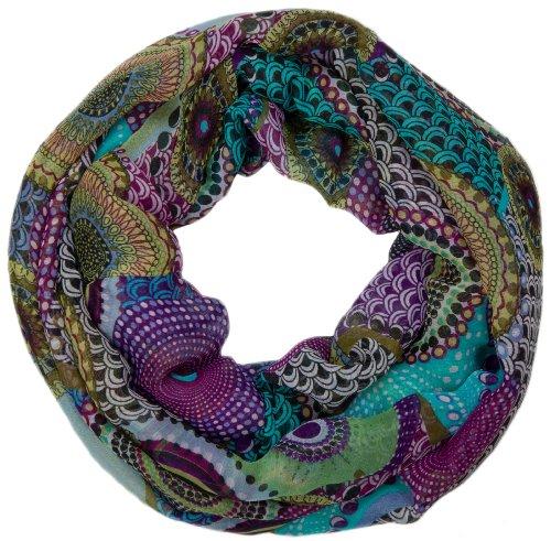 stylebreaker-fular-de-tubo-etnico-de-puntos-de-estilo-africano-mujeres-01016014-colorturquesa-violet