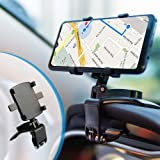 BEENLE Supporto Multifunzione per Cruscotto Auto Specchietto Retrovisore con Clip a Molla Regolabile a 360°, Adatto per Smart