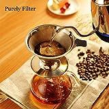 Kaffeefilter Tassenfilter Edelstahl Dauerfilter Permanentfilter Set für kaffeemaschine / Tee / Tee Filter Löffel / Tee-Sieb / Kaffeelöffel Kaffeedauerfilter für 4 Tassen (Kaffeefilter)
