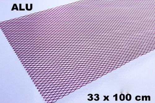 Alu Renngitter Racinggitter Tuning Gitter 33 x 100 cm Rot/Pink Aluminium neu