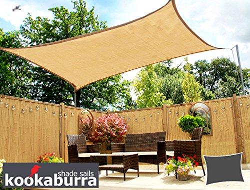 Tenda A Vela Quadrata : Tende a vela kookaburra per feste rettangolare m m sabbia