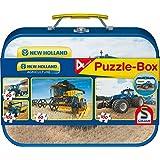 Schmidt Spiele 56507 - New Holland Puzzle-Box, 2 x 60 / 2 x 100 Teile, im Metallkoffer