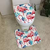 NMDSWEZ Cartoon Hund Toilette Toilette U-Form WC-Sitz WC-Abdeckung Saug Anti-Rutsch-Pad Maschinenwaschbar, WC-Abdeckung 35 * 45 Blue Leaf Firebird WC-Pad