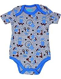 Body para bebé de manga corta,con cuello tipo americano,100%algodón,
