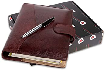 COI Faux Leather Executive Organizer/Planner Diary 2018 with Pen (Chocolate Brown)