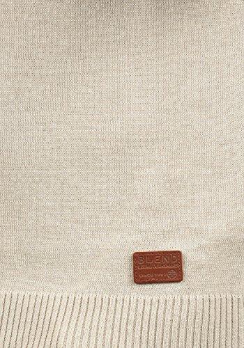 BLEND Lennardo Herren Pullunder Weste Feinstrick Ärmellos mit V-Ausschnitt aus hochwertiger Baumwollmischung Meliert Sand Mix (70810)