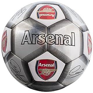 Arsenal FC Kids' AR04933 Silver Signature Football, Multi-Colour, Size 5