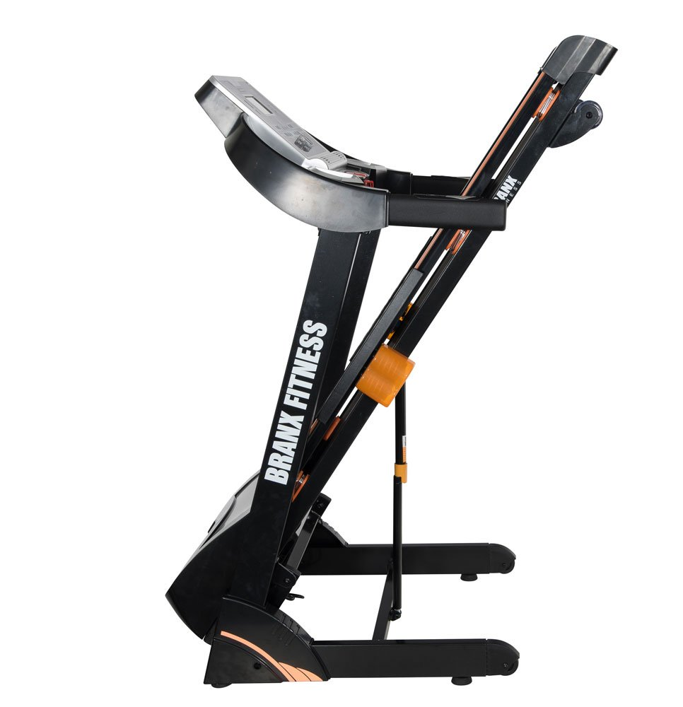 61 KU17QLiL - Branx Fitness Foldable 'Cardio Pro' Touchscreen Console Treadmill - 17.5km/h - 6hp - 0-20 Level Auto Incline - Body Fat Readout - Soft Drop System - Smart Deck Suspension Points