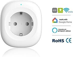 Presa Intelligente, Woostar Presa Wifi con USB Porto di Carica e Funziona con Amazon Alexa, Assistente di Google, IFTTT, Funzione di Temporizzazione, Controllo Remoto Tramite iOS Android App