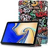 Samsung Galaxy Tab S4 10.5 Hülle - Ultra Dünn PU Leder Schutzhülle mit Standfunktion und Auto Aufwachen/Schlaf Funktion für Samsung T830 / T835 Galaxy Tab S4 10.5 Tablet-PC, Graffiti