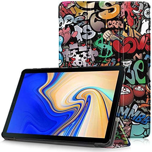 Samsung Galaxy Tab S4 10.5 Cover - Custodia Ultra Sottile e Leggero con Coperture da Supporto e Funzione Auto Sveglia/Sonno per Samsung Galaxy Tab S4 SM-T830 / T835 Tablet da 10.5', Graffiti