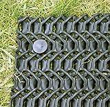 BodMat, Flexibles, rutschhemmendes Bodenschutzgitter, 2 x 10m, schwarz, zuverlässiger Rasenschutz, Fallschutz z.B. für Rasenspielplätze.