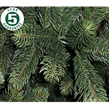 Best Artificial Premium 6ft/180cm Real Feel Hinged Christmas Tree with Over 1100 FULL PE Tips for Indoor Xmas with 5 YEAR GUARANTEE