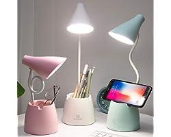 Lampe de Bureau, lampe table LED 3 modes d'éclairage et capteur tactile, lampe bureau rotation à 360 ° à intensité variable p