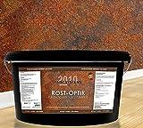 Rostoptik Wandfarbe-Rosteffekt 2 x 2,0 Liter+ Effektbürste- all in One - Super Design für ca. 30m²