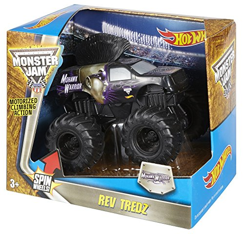 Mattel Hot Wheels CHV51 vehículo de Juguete - Vehículos de Juguete, Camión, Monster Jam, Rev Tredz Mohawk Warrior, 3 año(s), China
