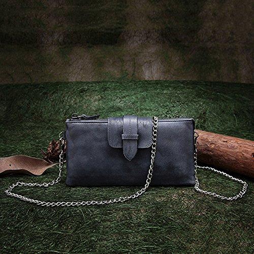 Longue main dans le porte-monnaie en cuir vintage fait main original Gray