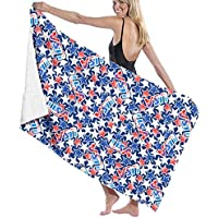 ewtretr Unisex USA Flag with Stars and Stripes Over-Sized Cotton Bath Beach Travel Towels