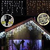 200 LED **Premium** ges.10 Meter~EISREGEN Weihnacht-Lichterkette~WARMWEISS-Schnee~EISZAPFEN Effekt~IP44~WEIHNACHTSBELEUCHTUNG~DEKO~WEIHNACHTSDEKO~Wow