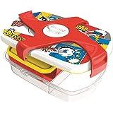 Maped Picnik Concept Boîte à Déjeuner Repas Enfants 3 Compartiments, dont 1 Compartiment Etanche et Amovible Sans BPA ni Phta