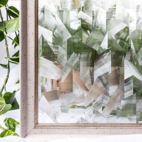 CottonColors 3D Fensterfolie Sichtschutzfolie Fensterschutzfolie statisch selbstklebend keine Phthalate umweltfreundlich 3ftx6.5 ft (90 x 200 cm)