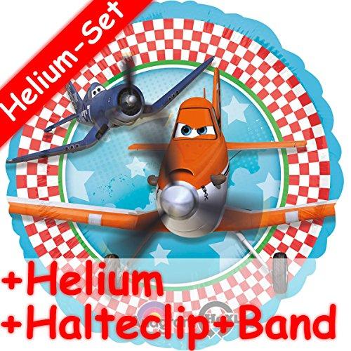 Folienballon Set * DISNEY PLANES + HELIUM FÜLLUNG + HALTE CLIP + BAND * // Aufgeblasen mit Ballongas // Kindergeburtstag Deko Geburtstag Folien Ballon Luftballon (Disney Planes Folien Ballon)