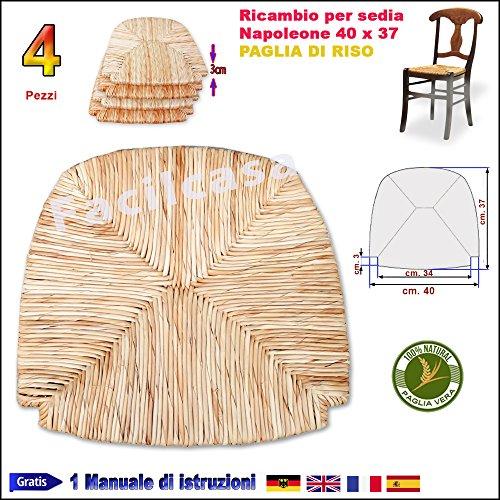 Seduta fondo in paglia di riso facilcasa ricambio sedia (cm40x37 art23napoleone)
