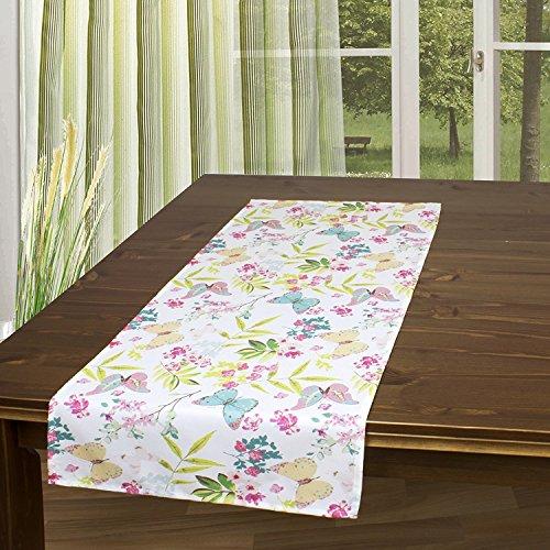 Tischläufer FRÜHLINGSERWACHEN / 40 x 90 cm / Moderner Tischläufer für den Frühling und Sommer (Blumen Tischläufer)