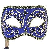 Blue Diamond venezianischen Masquerade Maske auf Stick