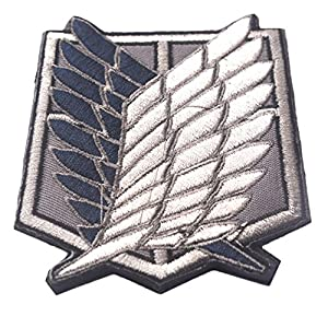 KingNew Attack on Titan Cosplay Écusson brodé Patch Moral tactique Applique (Wing)