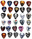 30 Skull Loose Guitar médiator Medium Gauge 0.71mm