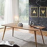 Wohnling Esszimmertisch REPA 180 x 80 x 76 cm Sheesham rustikal Massiv-Holz | Design Landhaus Esstisch | Tisch für Esszimmer groß | 6-8 Personen
