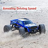 Enlarge toy image: Crenova 1/12 4WD Electric RC Car Monster Truck RTR with 2.4GHz Radio Remote Control/Crazy Speed 30MPH/2 Sets of Rechargeable Batteries Best RC Buggy for On-road and Off-road Racing Rock Crawling