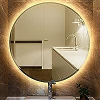 JEOBEST 60x60cm Miroir Rond De Salle De Bain avec éclairage LED Miroir Cosmétiques Mural Lumière Illumination avec…