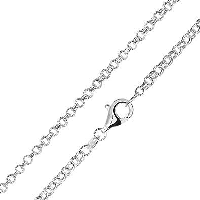 Silber halskette  MATERIA Zwillings Ankerkette silber 925 - Halskette Damen Herren 2 ...