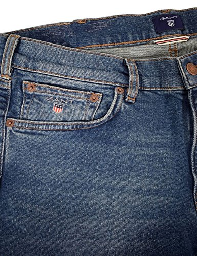 GANT Herren Gerade Regular Jean Blue