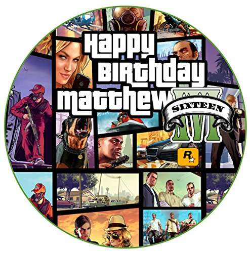 grand-theft-auto-gta5-personalised-75-round-cake-topper-edible-fondant