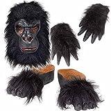 Déguisement-Costume de gorille Kit Masque mains & pieds