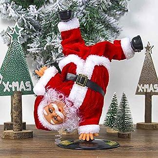 Volwco Muñeca de Papá Noel Bailando, Navidad Invertida giratoria, Papá Noel, Navidad, Eléctrico, Muñecas Musicales, Juguete de Peluche eléctrico, Adornos, niños