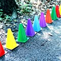 Dazzling Toys Assorted Colors Plastic Soft Traffic Cones - 12 Pack (D077)