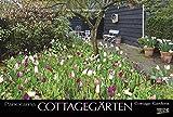 Cottagegärten 2018: Großer Foto-Wandkalender mit Bildern englischer Gärten. Edler schwarzer Hintergrund und Foliendeckblatt. PhotoArt Panorama Querformat: 58x39 cm.
