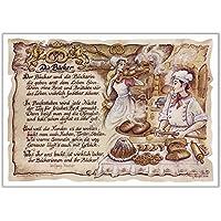 Geschenk Bäcker Konditor Bäckerei Zeichnung Color 30 x 21 cm