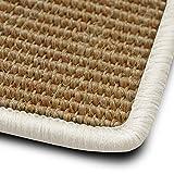 casa pura Stufenmatten myStyle 15er Spar Set | Kettelung in Wunschfarbe | 100% Naturfaser Sisal | rechteckig | Stabiler Halt Dank Winkelschiene (Kettelung Weiß)