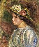Das Museum Outlet–Büste von weiblich in Stroh hat, 1914–Leinwand Print Online kaufen (101,6x 127cm)