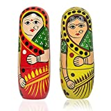 10 PCS Hand Painted Wooden Russian Nesting Dolls Set for Girls Kids RY